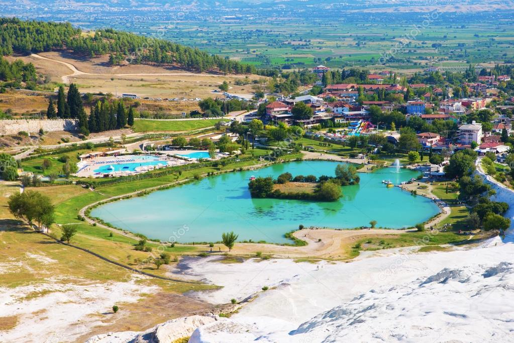 The travertine pools and terraces of Pamukkale