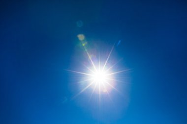 Bright lights from sun