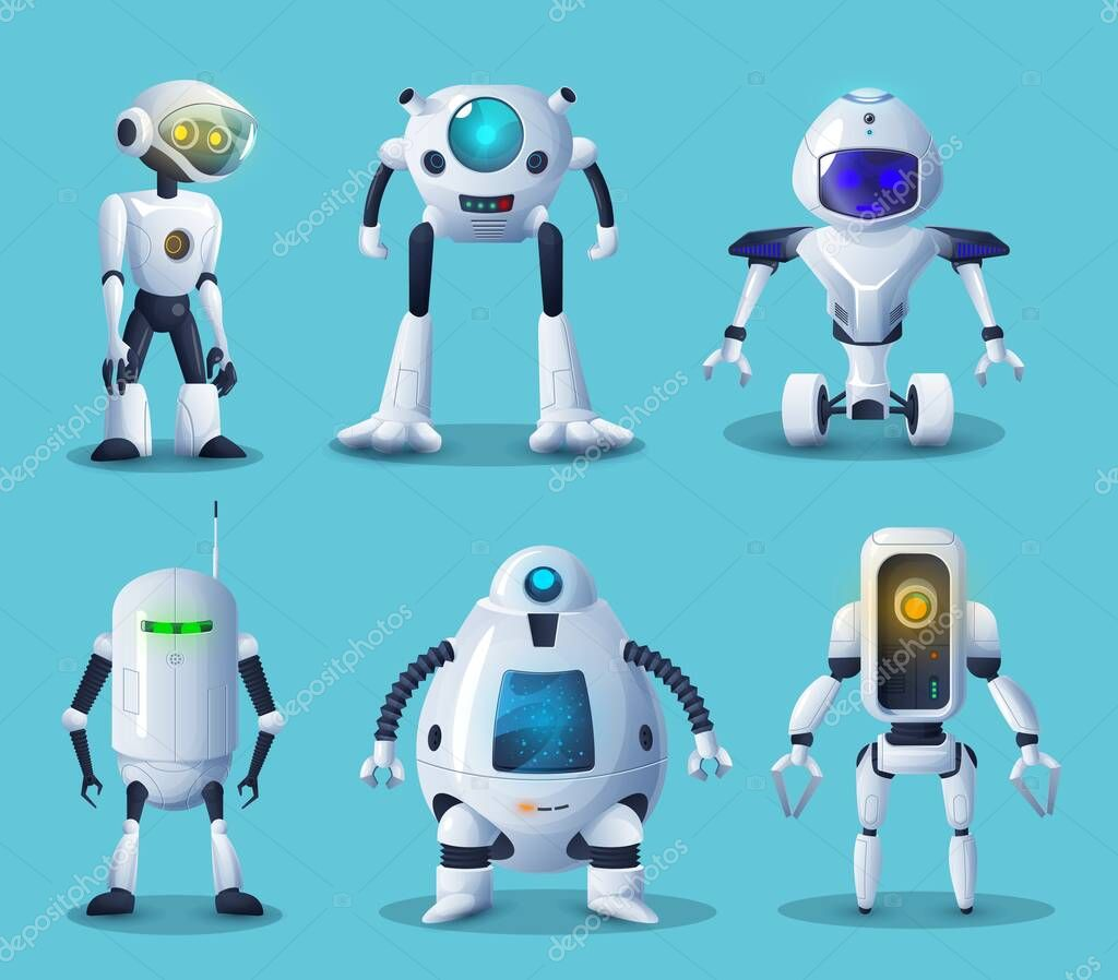 Robot and android bot vector characters of artificial intelligence ...