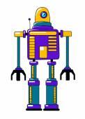 Barevná hračka robot v retro stylu