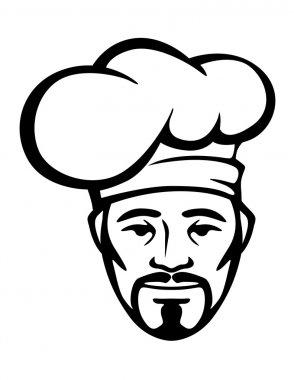 Hispanic chef in a white toque