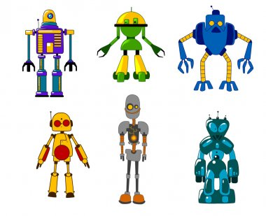 Toy robots and monsters set