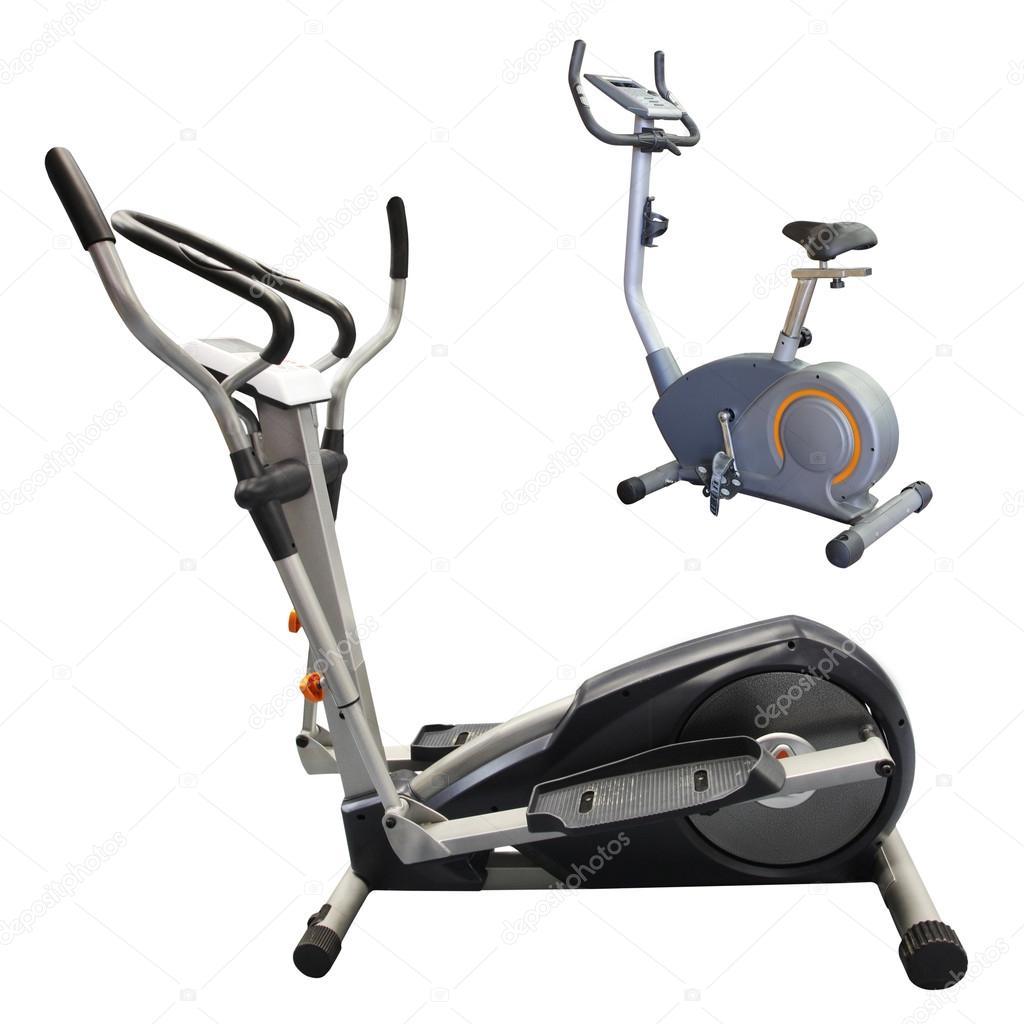 Exercise bicycles — Stock Photo