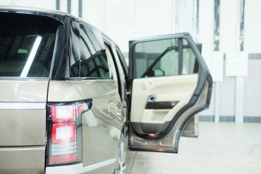Car with doors open