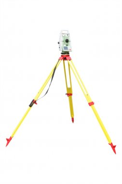 Theodolite isolated on a white