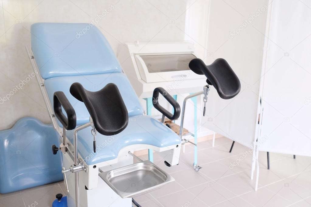 Gynäkologischer Stuhl Blau — Stockfoto © Uatp12