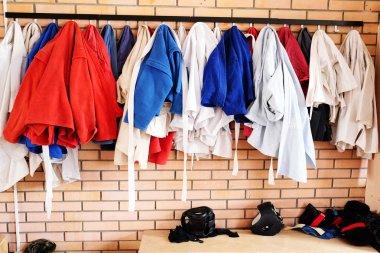 Kimonos in the locker room