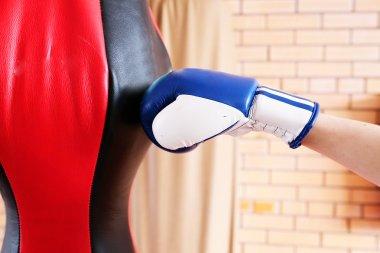 Boxing glove punch punching bag
