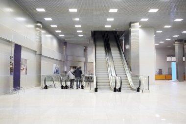 Crocus City Hall escalators