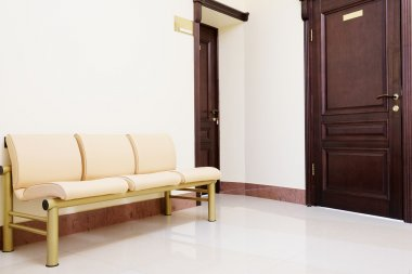 Waiting room in dental clinic