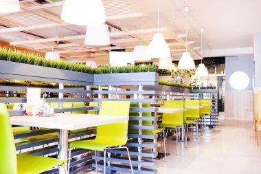 Modern cafe interior