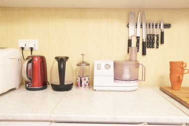 Kitchen appliances on the table
