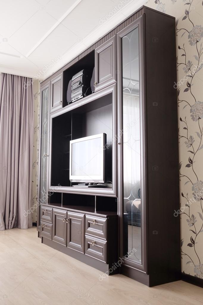 Bedroom With Tv And Wardrobes Stock Photo C Uatp12 70217171