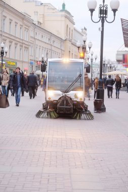 Sweeping machine  in Moscow