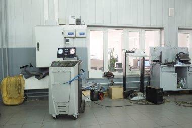 Interior of a dealer repair station