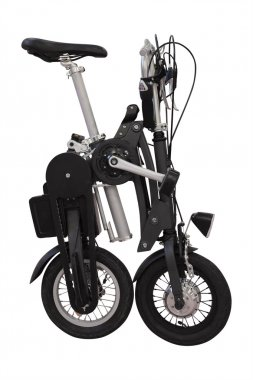 Collapsible bicycle isolated
