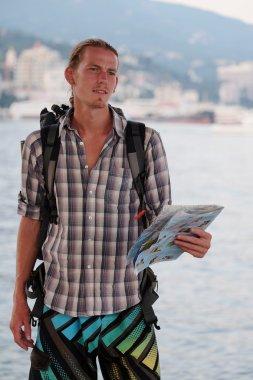 Portrait of a young tourist