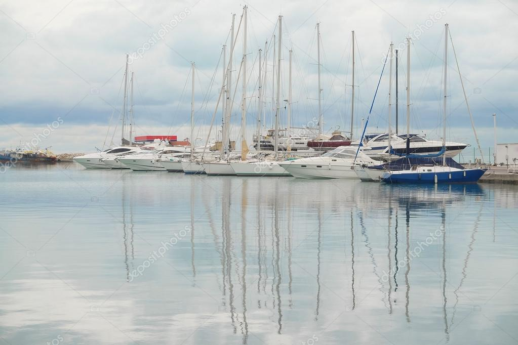 image of sailboats