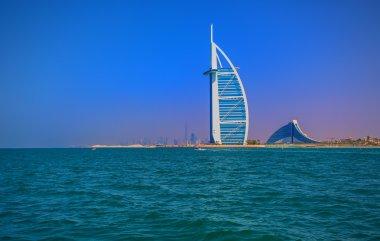 DUBAI, UAE - OCTOBER 18, 2014: Burj Al Arab in Dubai, as seen on