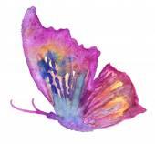 Absztrakt akvarell kézzel rajzolt pillangó