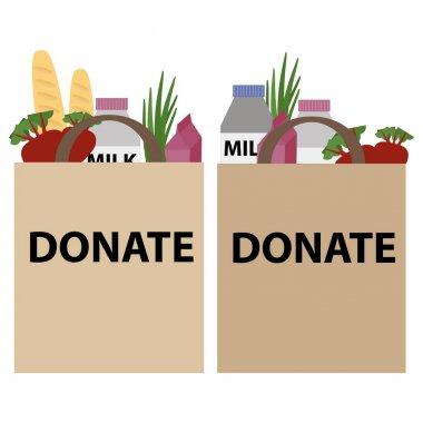 Food donation papper bag