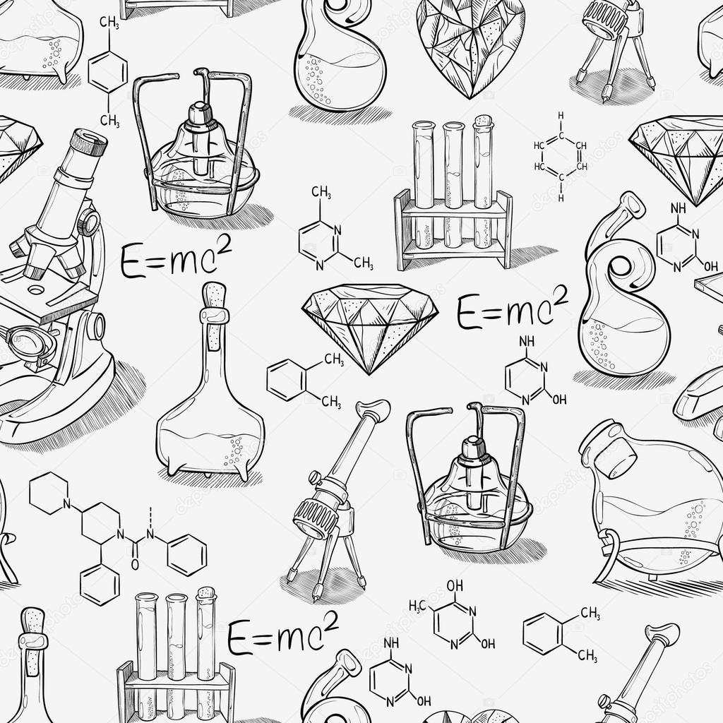 Химия рисунки черно белые