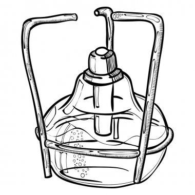 laboratory burner illustration