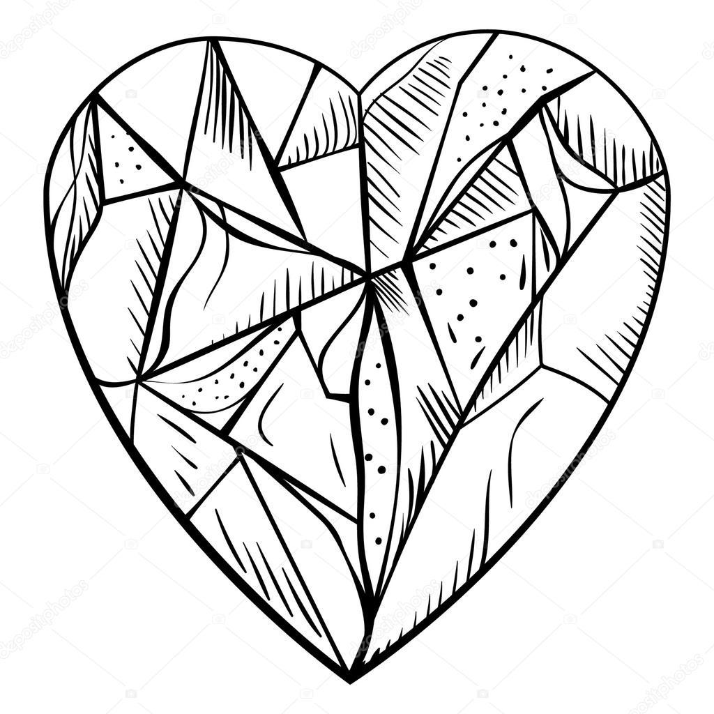 diamante de estilo Doodle — Vector de stock © ivofet #117314334