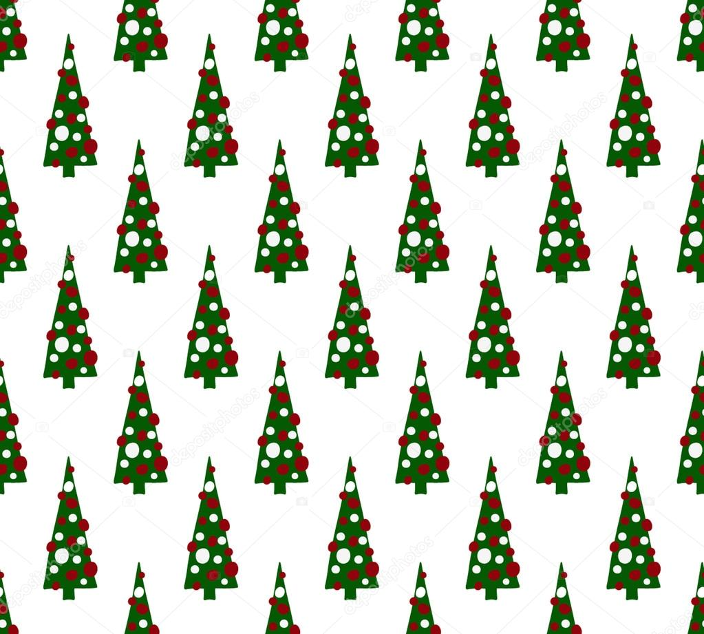 Color christmas trees pattern — Stock Vector © ivofet #89025092