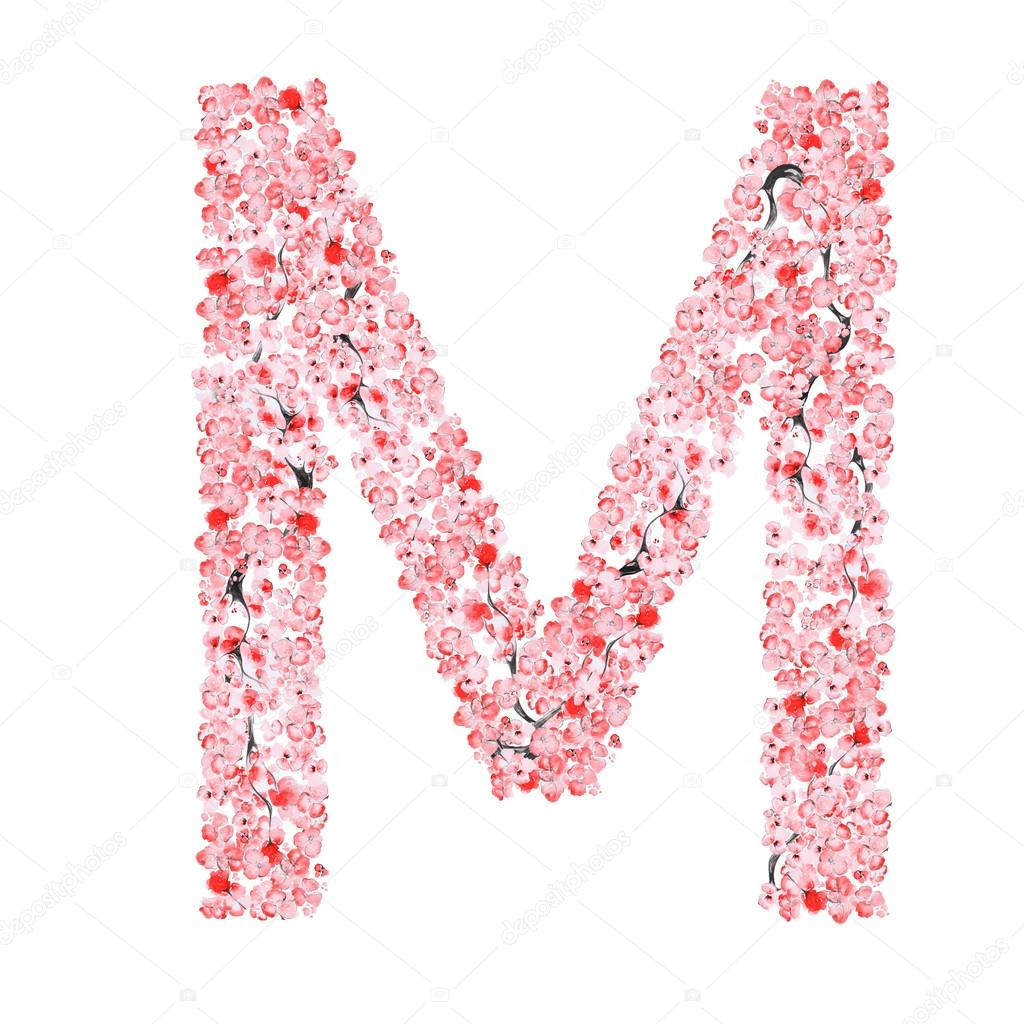 Sakura Flower Alphabet
