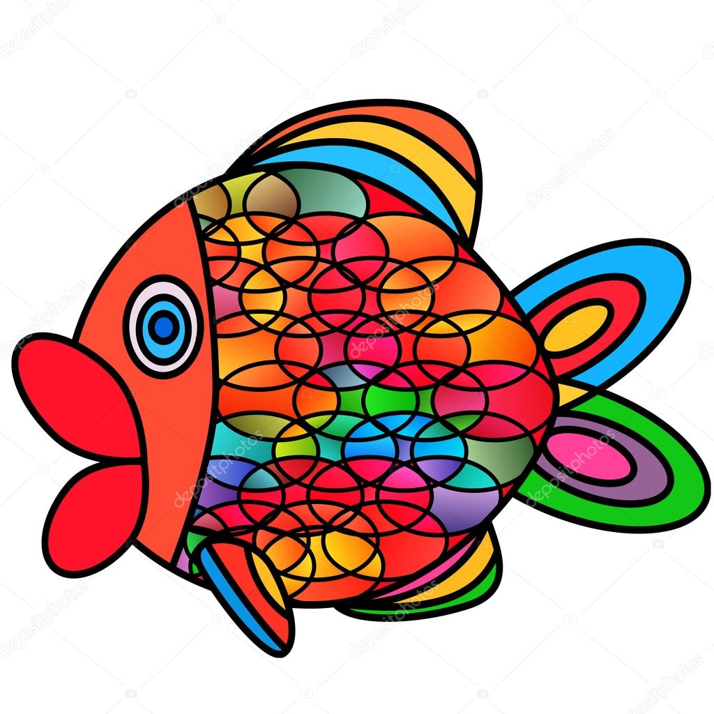 Abstract fish. — Stock Vector © LukAlex #72038385