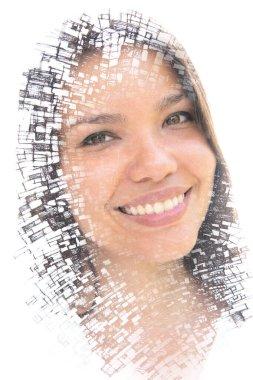 Digitally altered creative female portrait