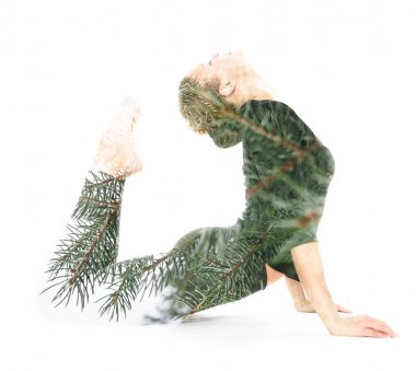 Concept yoga woman