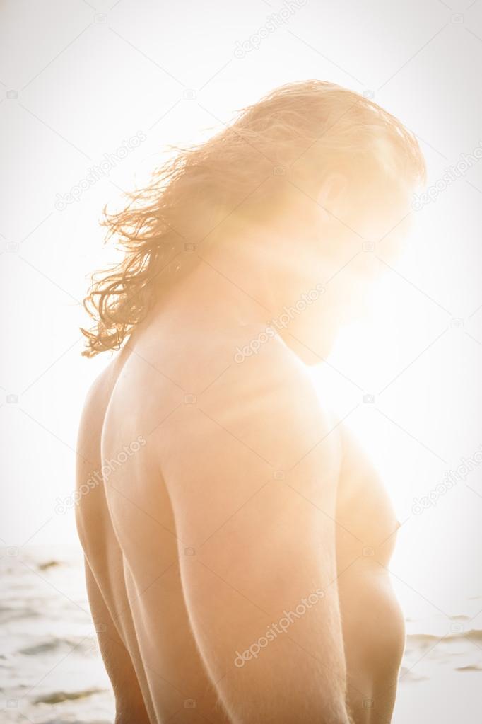 Man Illuminated by Sunlight