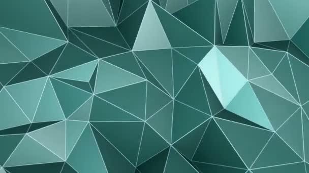 green abstract seamless triangular crystalline background 4k animation