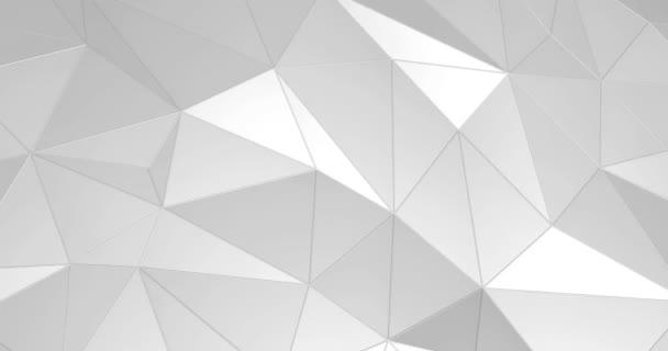 fehér absztrakt zökkenőmentes háromszög kristályos háttér 4k animáció
