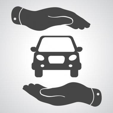 Flat car icon