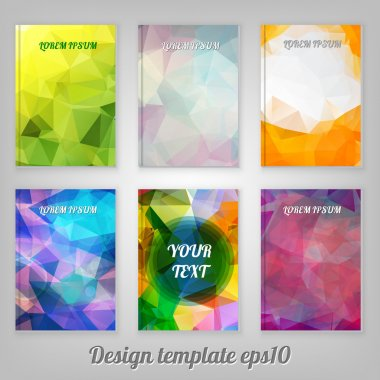 Set of Abstract cover designs