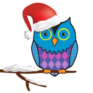 Funny christmas owl