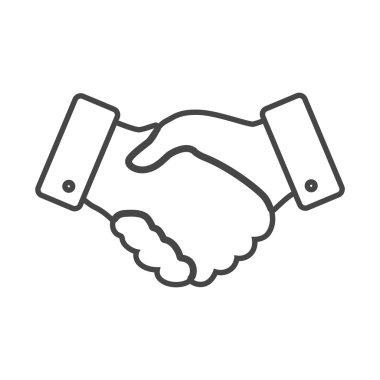 Handshake thin line