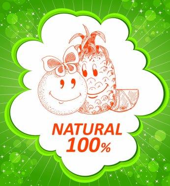 Organic nature poster