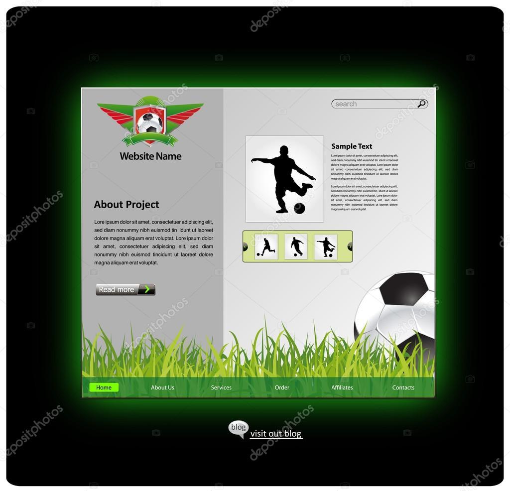 7825b30eda modelo de design de web site de esportes — Vetor de Stock © kots 09 ...