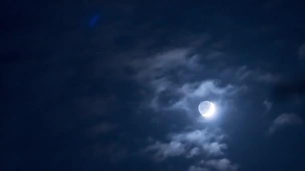 hvězdy a mraky. časová prodleva