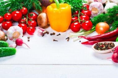 Beautiful background healthy organic eating