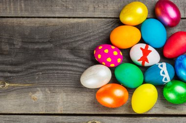 Easter holiday colorful eggs