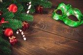 zdobené větve vánočního stromu