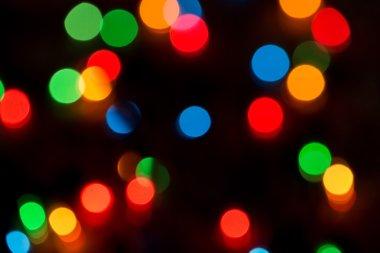 christmas defocused lights