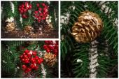 Weihnachten Urlaub collage