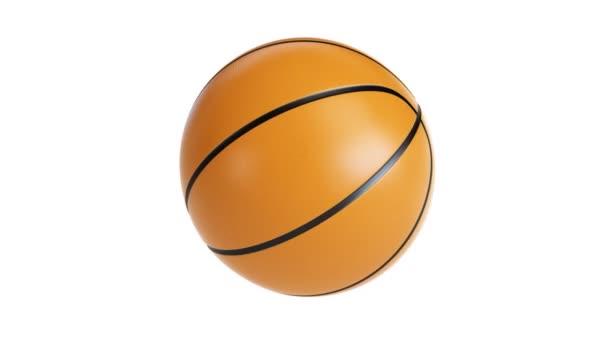 basketbal, otáčí kolem své osy. Alfa mapa včetně.