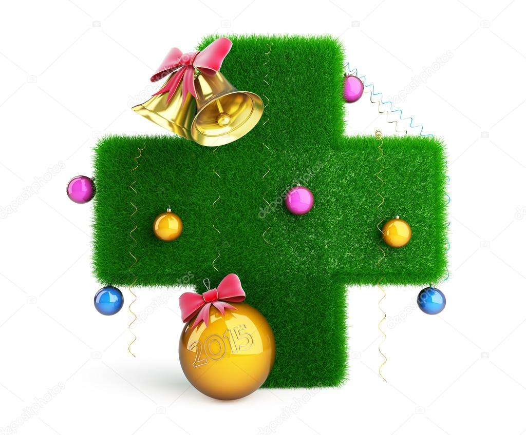 Medische Kruis Kerstboom Stockfoto C 3dfoto 58816229